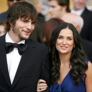 Ashton Kutcher with Demi Moore